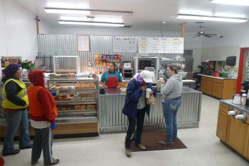 4:00am: Griselda Mendez meets the early-morning rush at Missing Hole Donut Shop in Castroville.