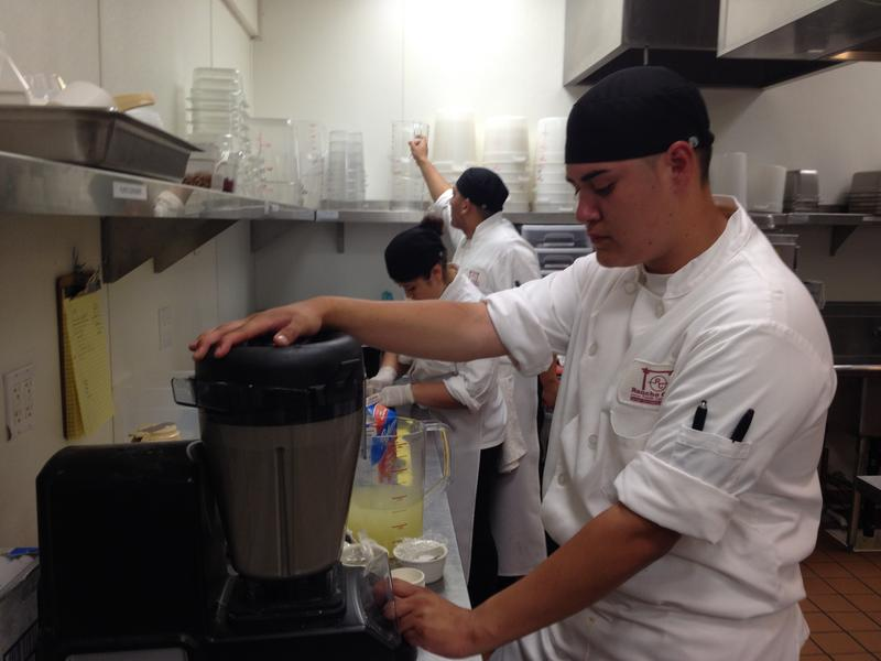 3:00pm: Gabriel Rivera makes soup during dinner service at Rancho Cielo's Drummond Culinary Academy.
