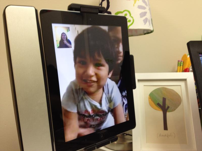Samuel Lopez in Greenfield over FaceTime.