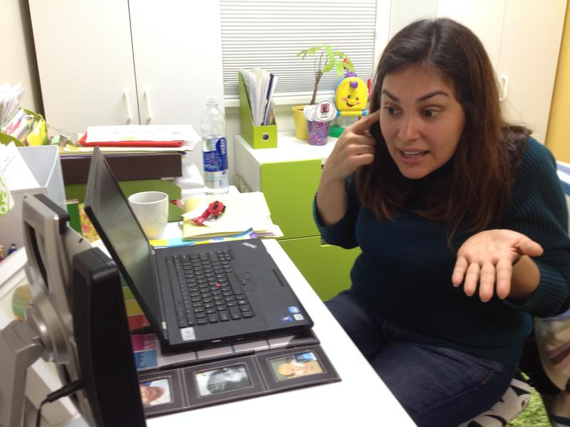 Patricia Gomez is one of 11 BabyTalk therapists who works with deaf  babies and toddlers via FaceTime.