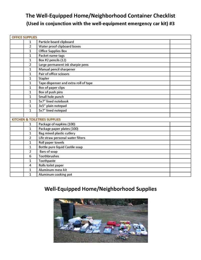 Well-Equipped Home / Neighborhood Kit Page 3
