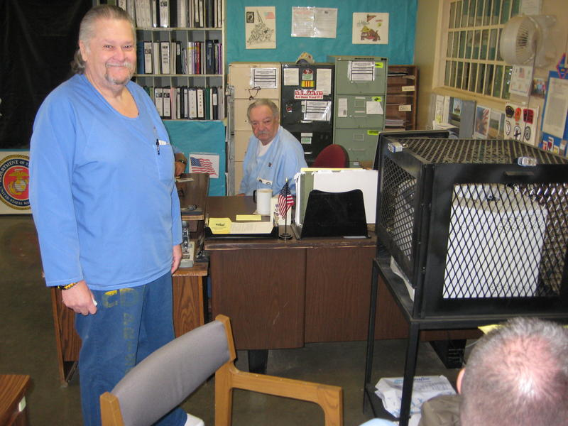 Ed Munis (left) and Doc Piper run the Veterans Service Office at Soledad CTF.