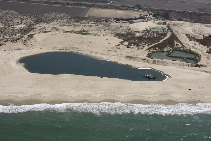 The dredge pond at the CEMEX Lapis Sand Plant in Marina.