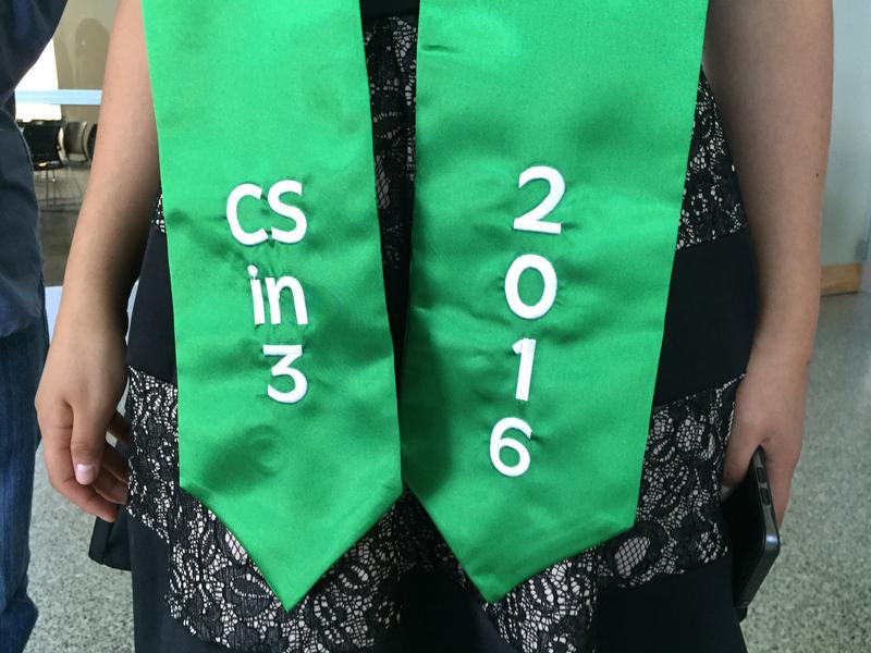 The graduation sash for CSin3 students.