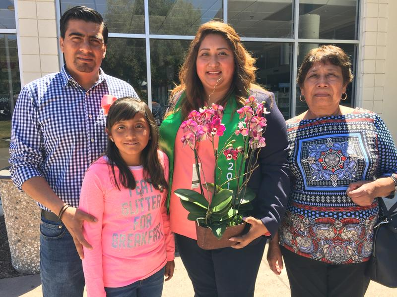 CSin3 student Leticia Sanchez with her husband Ovett Cruz, daughter Emily Cruz Sanchez and mother Alicia Leon Rios.   She will graduate in December.
