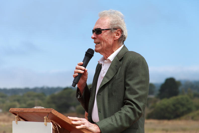 Clint Eastwood and his first wife Maggie announced the land donation at a press conference on Tuesday.