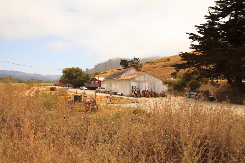 Entrance to the property located south of the Carmel River Bridge along Highway 1.