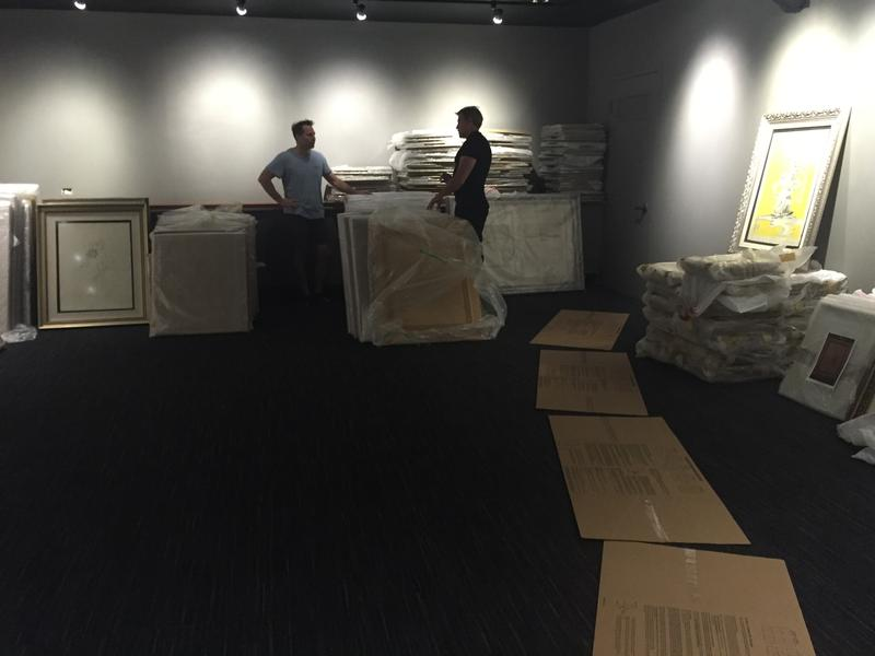 Pieces from Piterman's collection line the walls as the museum comes together.