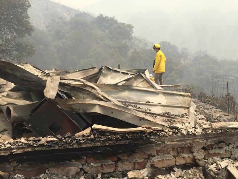 A home destroyed in the Soberanes Fire.