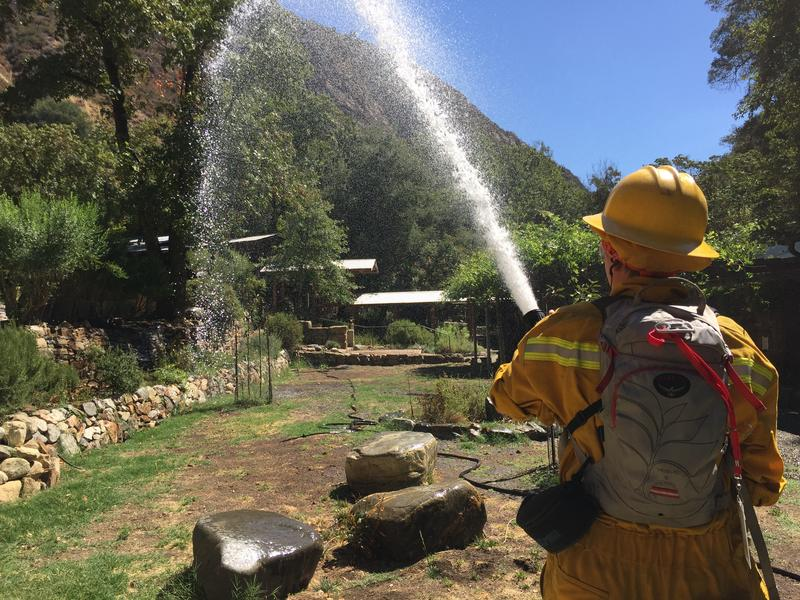 Students at Tassajara Zen Center have completed wildland fire training, so they can protect the Monastery.