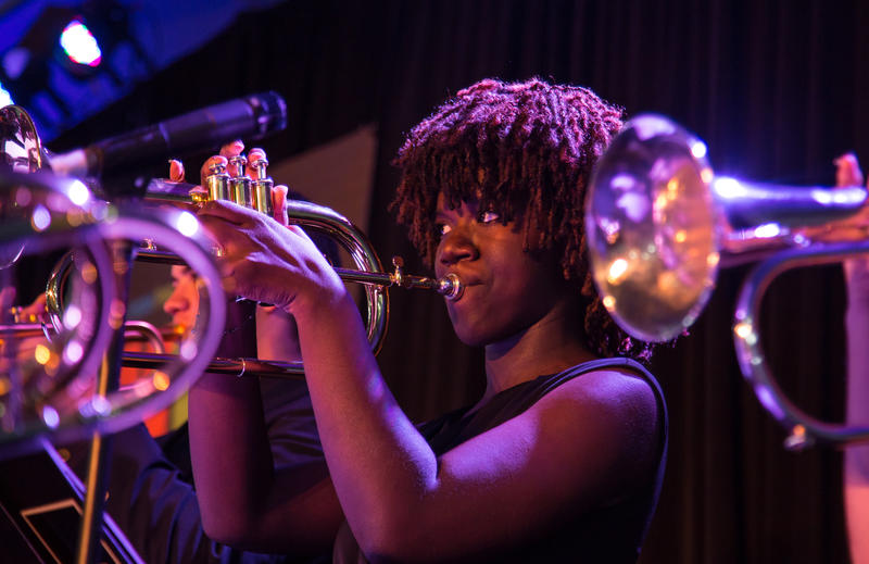 Akili Bradley of Seaside is one of two Monterey County musicians in the Next Generation Jazz Orchestra.