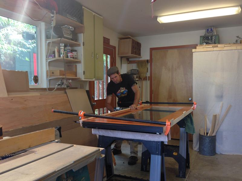 J Duffy of Seven Seas Carpentry restores a French door.