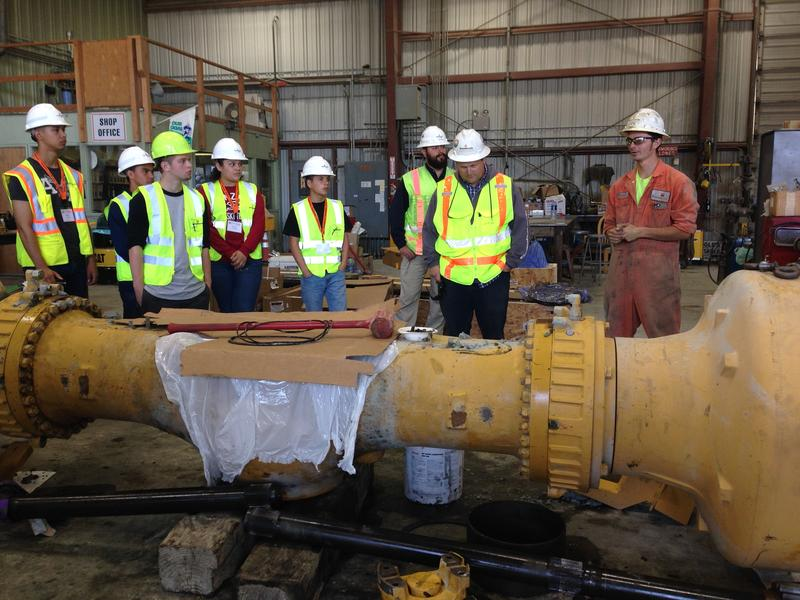 Graniterock Construction Academy students take a tour of Graniterock's shop.