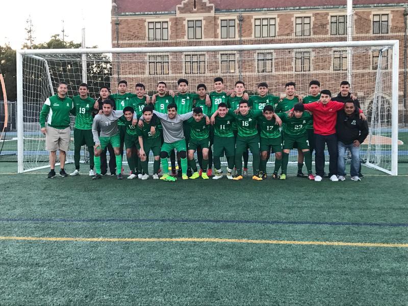 Alisal High School Varsity soccer team after beating Loyola 1-0 on Monday, December 19th.