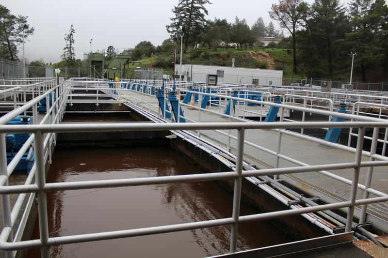 Treatment bays at the Graham Hill Treatment Plant just outside Santa Cruz city limits.