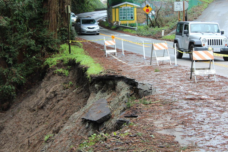 A slip out on Soquel Avenue, a main route through Aptos.