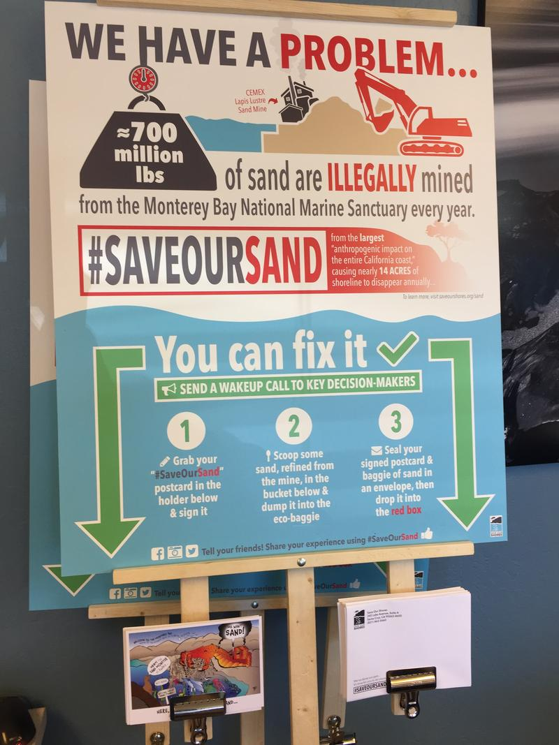 "Save Our Shores will place five of these ""protest stations"" throughout the region.   One will be at Patagonia Santa Cruz."