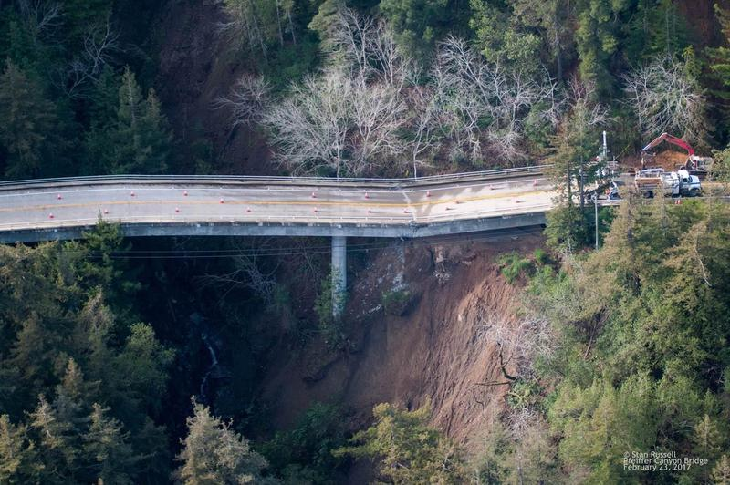 The Pfeiffer Canyon Bridge in Big Sur is damaged beyond repair.