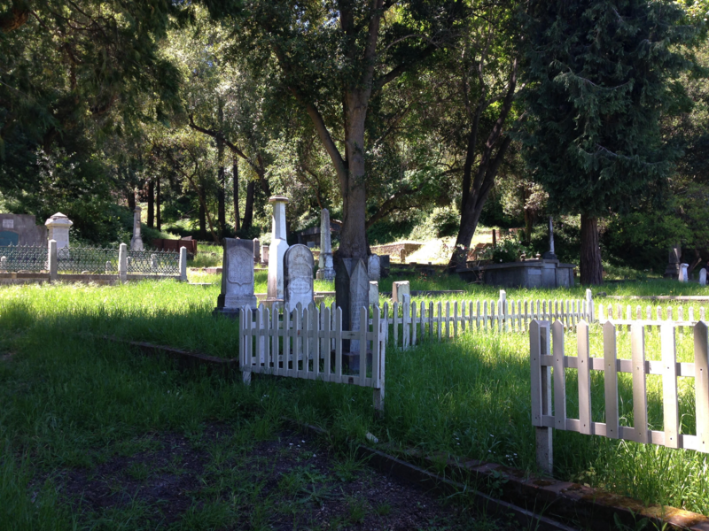 Evergreen Cemetery in Santa Cruz, home to a colorful array of people, is built into a hillside.