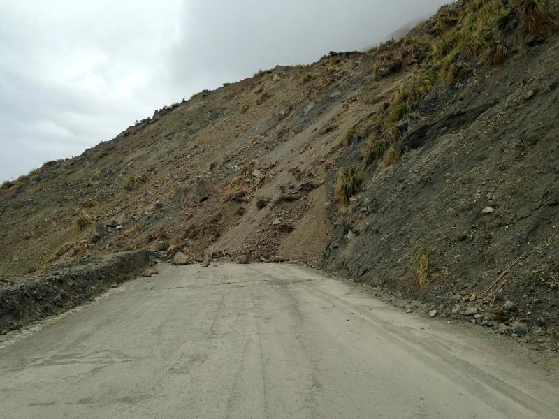 The landslide on Highway 1 at Mud Creek.  Caltrans estimates it will take at least a year to reopen the road there.