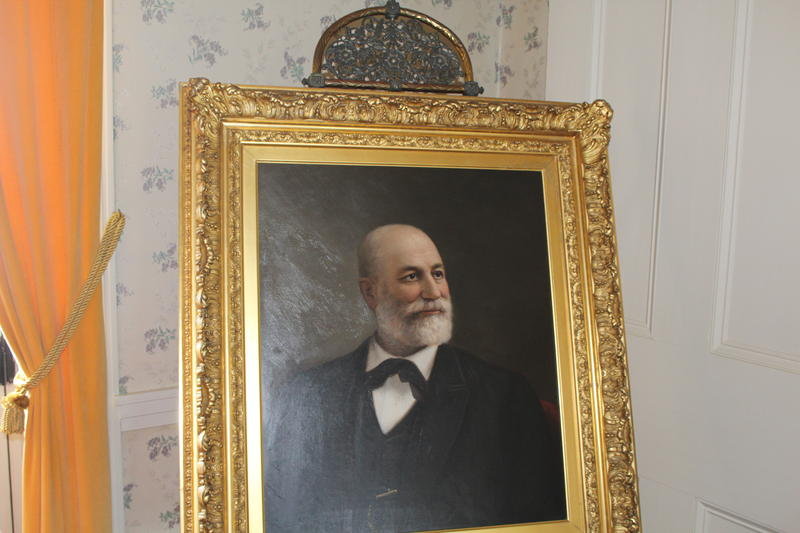 A painting of John Cooper, who began building his estate in Monterey in 1832.