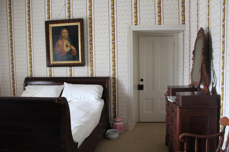 A bedroom inside Cooper's home.