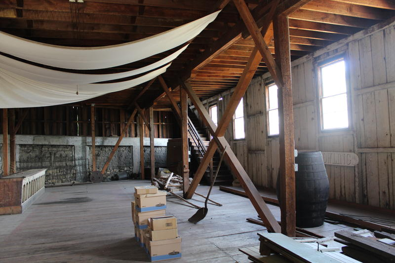 A look inside the barns.