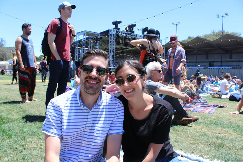 Maxwell Octigan and Kelsey Honz came down from San Francisco to hear Leon Bridges and Eric Burdon.