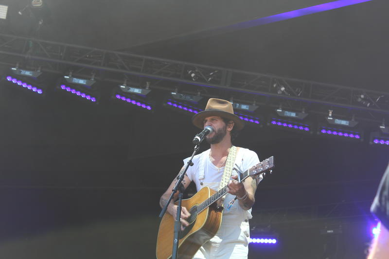 Langhorne Slim and the Law were one of the first bands to perform.