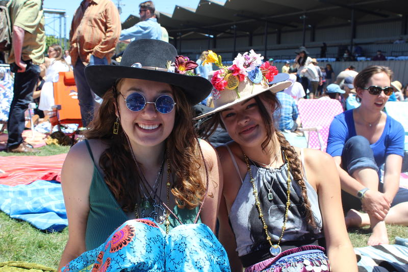 Madeline Chatam (left) and her best-friend enjoy the music at the Monterey Pop Festival.