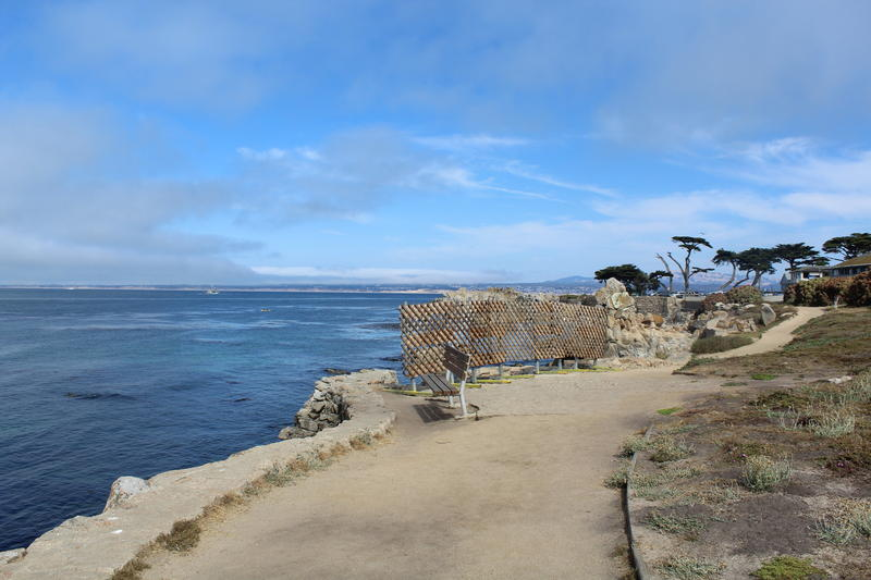 In Pacific Grove, a 150-foot long seawall protects the city's public recreation trail. In January, a storm broke part of the wall.