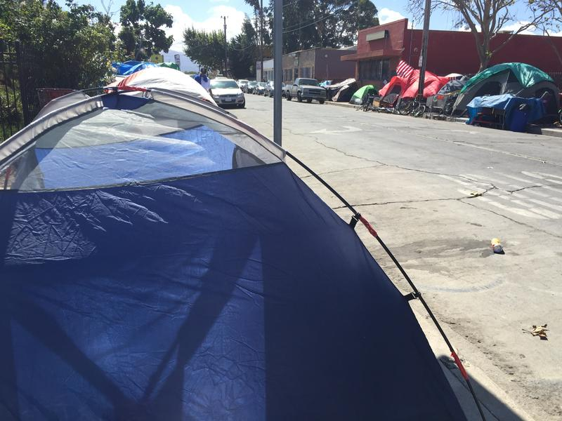 Soledad Street is currently home to a large homeless encampment.