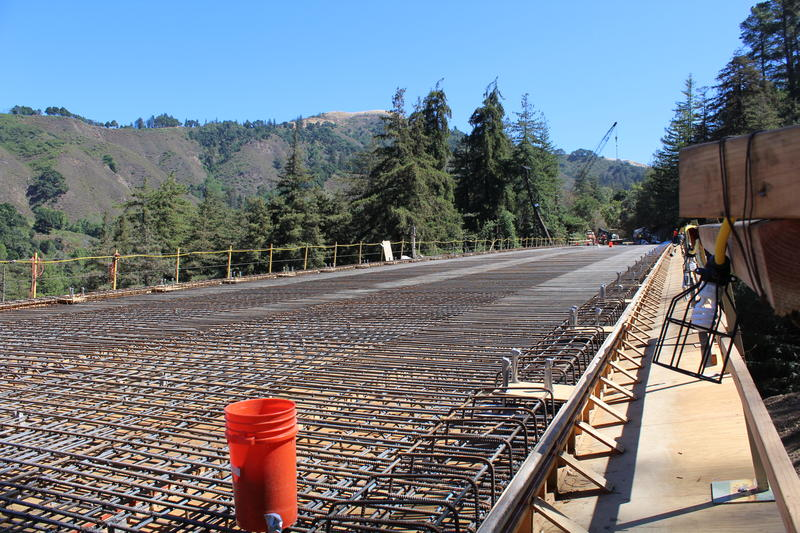 On Friday night, crews will pour concrete over the deck of the bridge. It's one of the final steps in the rebuilding of Pfeiffer Canyon Bridge.