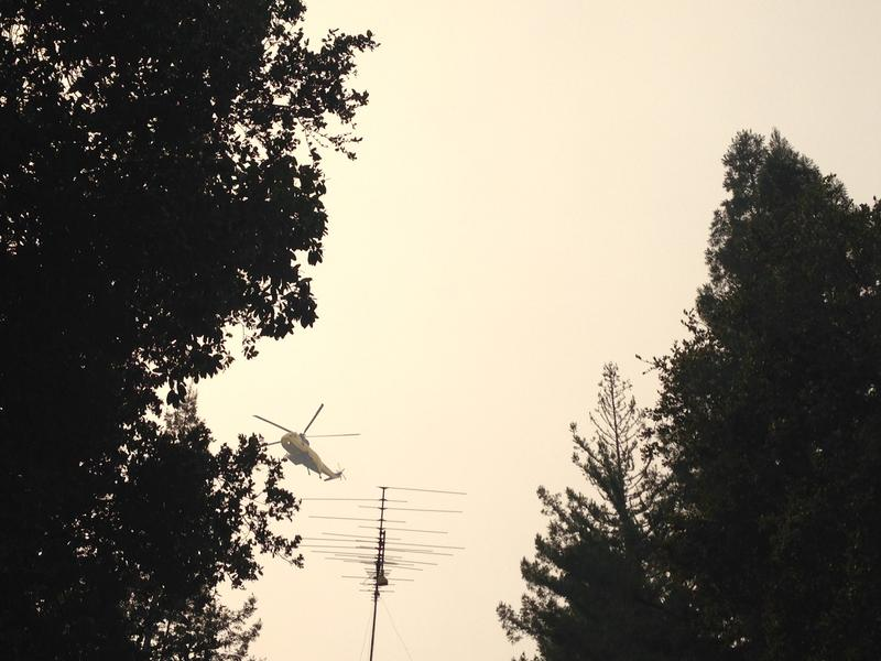 As of 1:00pm Tuesday, seven helicopters were on the scene.