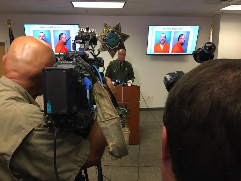 Santa Cruz County Sheriff Jim Hart announces the arrest during a news conference Friday.