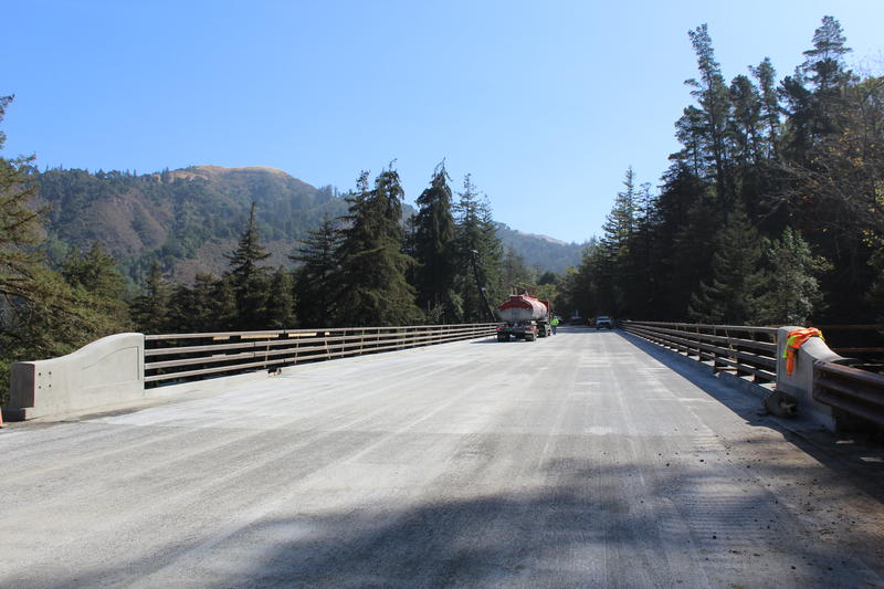 Caltrans crews completed the bridge in record time. What's normally a 7 to 10 year long project was done in less than eight months.