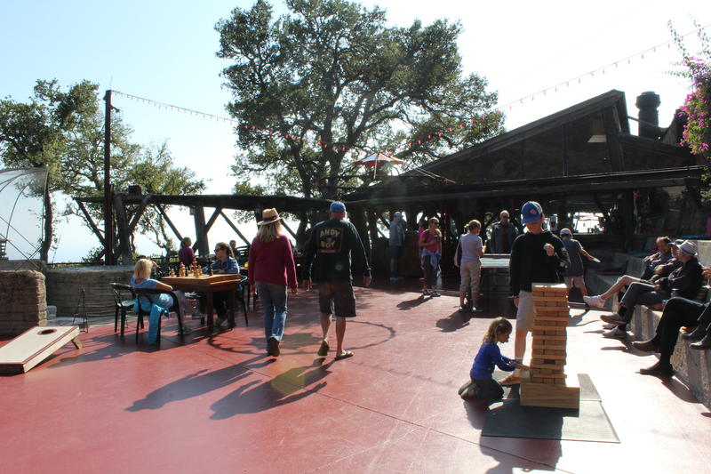 Like many businesses in Big Sur, Nepenthe used the time they were closed to do some sprucing up. They've brought back patio games, something the community enjoyed in the 1950s.