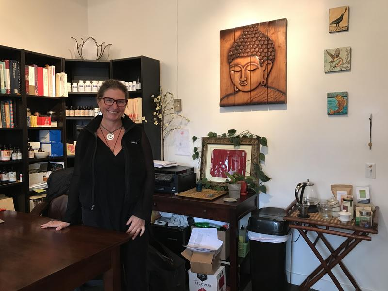 Tracy Cone is an acupuncturist. She rents her office and her home. She says the high rents are making her rethink whether she can stay in the city.