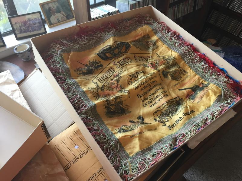 This sweetheart pillowcase is just one of the thousands of pieces in Steve Levinson's personal collection of Fort Ord artifacts.
