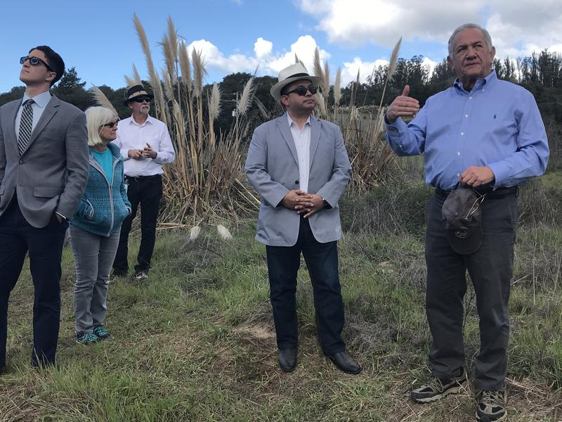 Elkhorn Slough Foundation Executive Director Mark Silberstein led a tour of Elkhorn Highlands Reserve as part of the celebration of the land transfer.