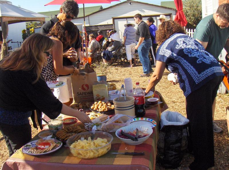 Each performance at The Venue begins with a community potluck.