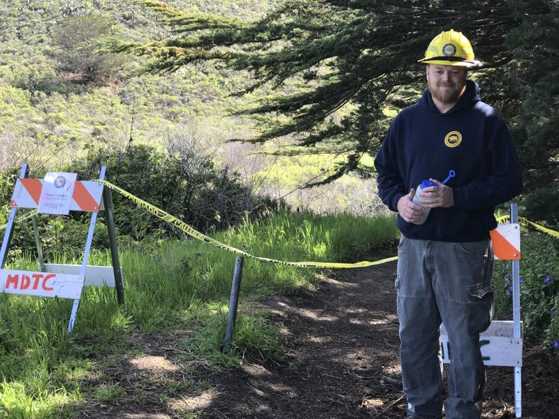 California State Park's John Hiles says come Saturday, this caution tape will come down and hikers will be welcomed back.