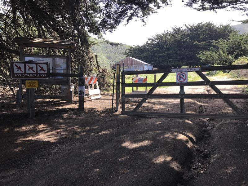 This is the trailhead to the Soberanes Creek Trail, also referred to as the Soberanes Canyon Trail.