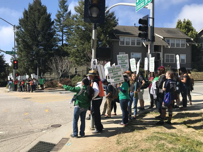 Some classes were canceled at UCSC after protesters gathered at both entrances to campus earlier in the week.