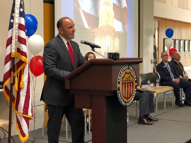Congressman Jimmy Panetta (D) addressed the new U.S. citizens during their naturalization ceremony.