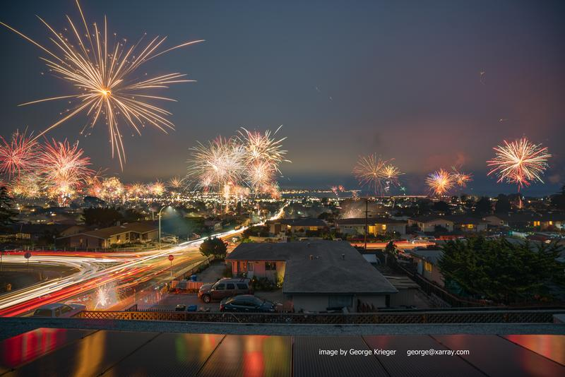Every 4th of July, photographer George Krieger uses time lapse photography to capture the Seaside skyline. This photo is from 2017. It shows just how many illegal fireworks are launched in Seaside every year.