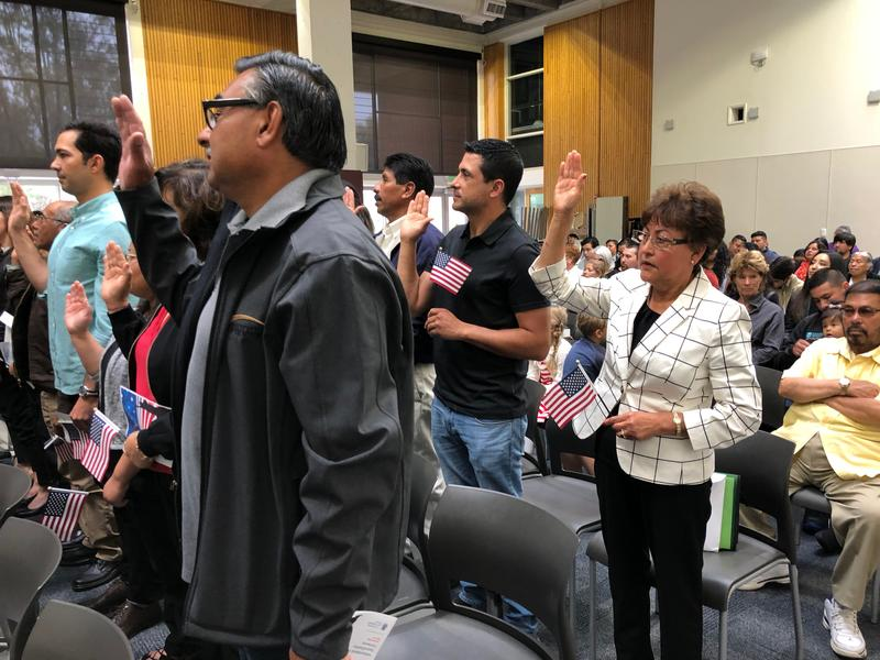 77 people from 20 different countries took the Oath of Allegiance on Tuesday, July 3rd at Hartnell College.