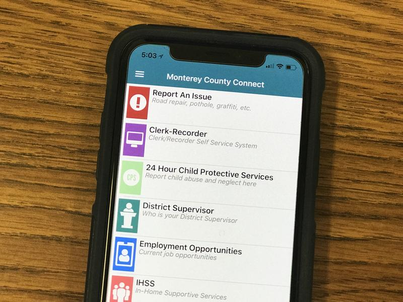 "The ""Report An Issue"" section on the Monterey County Connect App is one tool you can use during Car Week."