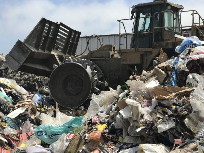 As of August 1, plastic bags and other plastic film is no longer accepted as recyclables at the Monterey Regional Waste Management District. Instead, they're going to the landfill.