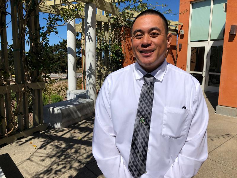 Army Veteran Gilbert Bernabe credits on campus Veterans Resources Centers for helping him get through college.  He graduates from CSUMB this semester.